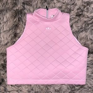 Pink nmd diamond quilted top